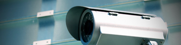 close up of a cctv surveillance camera